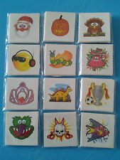 12,16,20,24 Temporary Tatoos Different Designs Christmas Stocking Fillers Partys