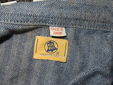 VINTAGE 1950'S BLUE BELL SANFORIZED WORK WEAR COVERALLS SIZE 40 MADE IN USA L@@K