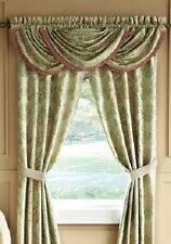 NEW CROSCILL CONSERVATORY POLE TOP DRAPERY W/ TIE BACKS 4PC OR + VALANCE 5PC SET