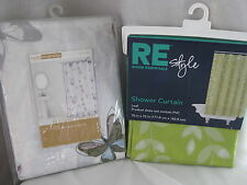 NEW RE ROOM ESSENTIALS STYLE LEAF PEVA OR BUTTERFLY FABRIC SHOWER CURTAIN