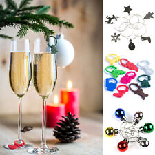 Christmas Wine Glass Charms Identifiers Xmas Decorations Stocking Filler Gift BN