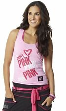 Zumba ~ Party In Pink Racerback Tank Top 2014 ~ Brand New! ~ Free Shipping! ~