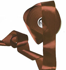 """Choc BROWN double satin British ribbon 37mm 1.5"""" wide (3m, 5m or 10m)"""