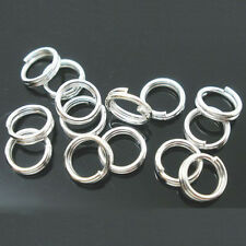 New Stainless Steel Double Loop Split Open Jump Rings Connector Findings 4-14mm