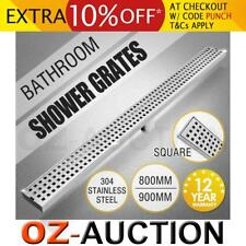 800-900MM Bathroom Shower Square Stainless Steel Pattern Grate Drain Outlet