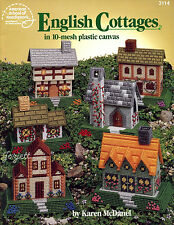 English Cottages in 10-Mesh plastic canvas patterns OOP