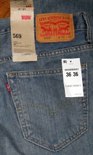 NEW Levis 569 Loose Relaxed Straight Men's Green Blue Black Jeans 31 33 34 36 40
