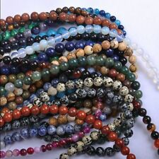 Wholesale Multi-Color Gemstone Round Spacer Loose Beads DIY Making 4/6/8/10/12mm