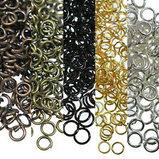 Hot Sale Lots Metal Open Round Connector Jewelry Findings Split Jump Ring Crafts