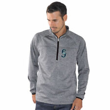 G-III Sports by Carl Banks Seattle Mariners Charcoal Franchise Half-Zip Jacket