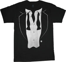 Tuxedo t-shirt Men's black tux tee shirt wedding after party cool tuxedo design