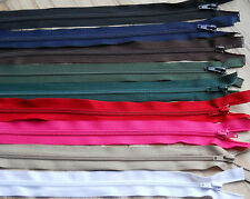 """NYLON OPEN ENDED ZIP / CHOOSE YOUR SIZE & COLOUR- 10""""-34"""" -No. 5  weight ***"""