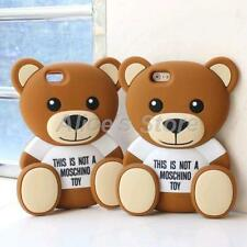3D Fancy Bear Soft Silicone Case Cover for Apple iPhone 5s 6 6plus