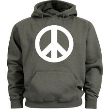 Peace sign hoodie peace sign sweatshirt Men's size peace symbol sweat shirt