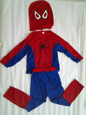 Halloween Kids Boy Spiderman Costume Tops Mask pants outfit spider man Cosplay