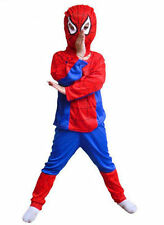 Halloween Kid Boy Spiderman Costume Tops Mask pants outfit spider-man Cosplay