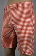Polo Ralph Lauren Orange White Checkered Suffield Fit Shorts NWT