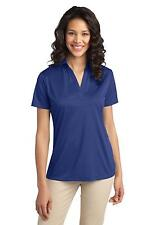 Port Authority L540 Womens Silk Touch Performance Polo Collared Shirt NEW
