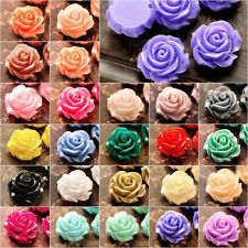 Lots 15/30Pcs Resin Flowers Cameos Fit Cabochons Buttons Flatbacks Settings DIY