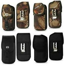 Durable Vertical Holster Case Pouch w/Metal Belt Clip for Smart Phone Black/Camo