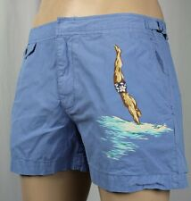 Polo Ralph Lauren Blue Nautical Swim Trunks Storage Pouch NWT