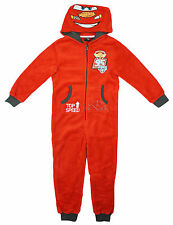 Boys Disney Cars Lightning McQueen Face Hooded Fleece Sleepsuit 3 to 8 Years