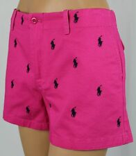 Ralph Lauren Sport Pink Shorts Navy Blue Ponies POLO Logo NWT