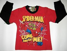 BNWT 100% cotton Spiderman T-Shirt boys Top Tshirt new release Long Sleeves
