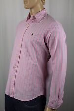 Polo Ralph Lauren Pink Striped Button Down Classic Fit Oxford Dress Shirt NWT