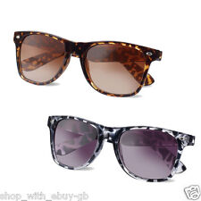 ANIMAL PRINT WAYFARER SUNGLASSES - CLASSIC UNISEX RETRO SHADES / GLASSES UV400