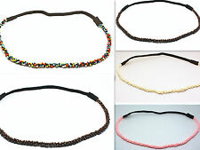 Women Fashion beautiful Acrylic pearl Elastic Hair Band Headband