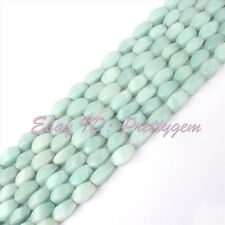 "Natural Blue Amazonite Gemstone Spacer Beads Strand 15"" Pick Size and Shape"