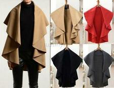 Fashion Women's Ladies Wool Coat Cloak Long Cape/Shawl Poncho Wrap Scarves Coat