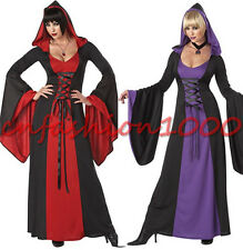 Sexy Wicked Witch Vintage Dress Halloween Costume Adult Women Bewitching Outfit