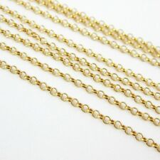 22K Gold plated Sterling Silver Chain-Tiny Rolo Chain 1mm Unfinished Bulk Chain