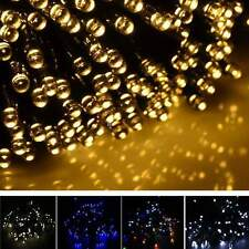 17M 100 LED Solar String Light Christmas Xmas #E Party Garden Outdoor Decor Lamp