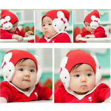Winter Rabbit Ear Flap Warm Hat Baby Toddler Kids Boys Girl Beanie Crochet Cap