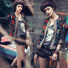 Fashion Style Women Slim Floral Casual Outwear Coat Short Parka Trench Jacket