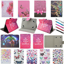 Rose Pink Flip Stand PU Leather Cover Case For Universal 7~7.8inch Tablet PC MID