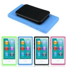 Hot TPU Rubber Gel Soft Case Cover Belt Clip For iPod Nano 7 7G 7th Gen Black