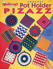 Pot Holder Pizazz ~ 12 Easy Potholders crochet patterns OOP new rare