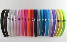 PLAIN SATIN ALICE BAND 15mm 1.5cm Pack of 6 HAIR BAND HEADBAND