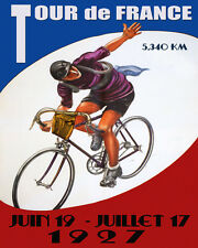 1927 Bicycle Race Tour de France Cycle Sport French 16X20 Vintage Poster FREE SH