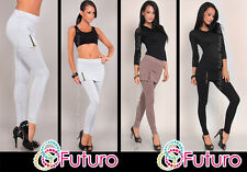 Casual Full Length Leggings With Mini Skirt Trousers Party Pants Size 8-12 8389