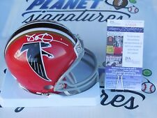 Dan Quinn Head Coach signed Atlanta Falcons red mini helmet JSA COA