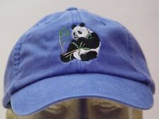 PANDA BEAR WILDLIFE HAT LADIES MEN SOLID COLOR BASEBALL CAP - Price Embroidery