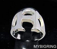 STERLING SILVER MEN'S INITIAL RING ONE 1 BOLD CAPITAL BLOCK LETTER R ANY SIZE