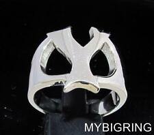 STERLING SILVER MEN'S INITIAL RING ONE 1 BOLD CAPITAL BLOCK LETTER Y ANY SIZE