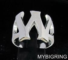 STERLING SILVER MEN'S INITIAL RING ONE 1 BOLD CAPITAL BLOCK LETTER W ANY SIZE