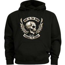 Big and tall hoodie sweatshirt biker skull design sweatshirt men's tall size